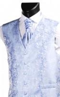 Blue Embroidered Finish Wedding Waistcoat