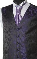 Purple Pattern Wedding Waistcoat