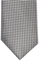 Wedding Grey Large Squares Pattern Mens Necktie