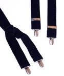 Navy Blue Mens Trouser Braces X Shape