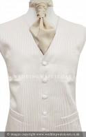 Ivory Fine Pin Stripe Wedding Waistcoat