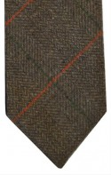 Brown Herringbone Check Tie