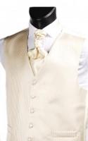 Beige Pin Stripe Weave Wedding Waistcoat