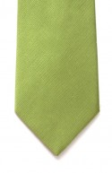 Green Hand Made Woven Silk Tie With Contrasting Tipping