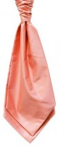 Coral Colour Twill Satin Cravat