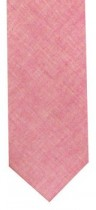 Pink Chambray Mens Necktie