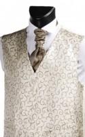 Light Brown Swirl Pattern Wedding Waistcoat