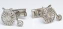 Silver Penny Farthing Bike Cufflinks