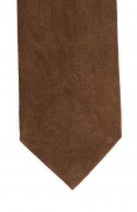 Light Brown Suede Effect Necktie CLEARANCE item!