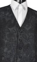 Black/Grey Poly Blend Waistcoat