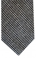 Black & White Dogtooth Tie