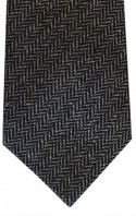 Black & Grey Herringbone Tie