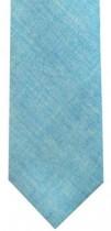 Turquoise Chambray Mens Necktie