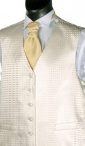 Ivory Woven Spot Pattern Wedding Waistcoat