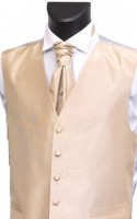 Champagne Colour Shantung Weave Wedding Waistcoat