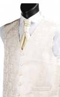 Ecru Embroidered Finish Wedding Waistcoat