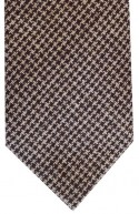 Brown & Beige Dogtooth Tie