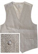 Silver Grey Waistcoat with floral embroidery - New for 2017!