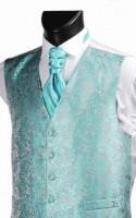 Turquoise Embroidered Finish Wedding Waistcoat