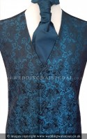 Midnight Blue Embroidered Finish Wedding Waistcoat