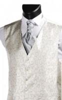 Grey Swirl Pattern Wedding Waistcoat