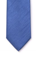 Airforce Blue Shantung Weave Necktie - Mens and Page Boys