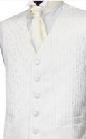 Ivory Leaf Pattern Wedding Waistcoat