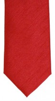 Tomato Shantung Weave Necktie - Mens and Page Boys