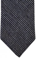 Black & White Fine Herringbone Tie