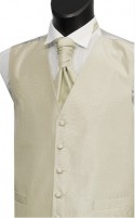 Ivory Shantung Weave Wedding Waistcoat
