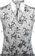 Silver & Black Dragon Waistcoat