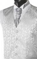 Grey Brocade Pattern Wedding Waistcoat