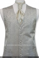 New For 2017! Stunning Champagne Waistcoat with Silver Floral embroidery