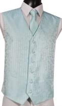 Turquoise Swirl Pattern Wedding Waistcoat NEW!