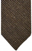 Brown Fine Herringbone Tie