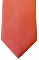 Coral Shantung Weave Necktie - Mens Skinny