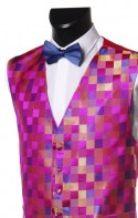 Pink Checker Pattern Dress Waistcoat CLEARANCE ITEM!
