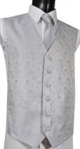 Silver Grey Paisley Pattern Wedding Waistcoat NEW!
