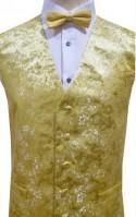 Yellow and Gold Dragon Pattern Dress Waistcoat NEW!