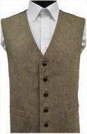 Brown/Beige Herringbone Wool Handle Waistcoat