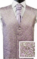 Grey & Lilac Fine Leaf Pattern Embroidered NEW!