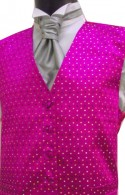 Pink Multi Colour Spot Dress Waistcoat