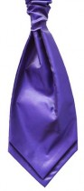 Bright Purple Twill Satin Cravat