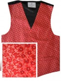 Red Waistcoat with wine floral pattern - New for 2017!