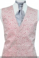 New For 2017 Stunning Soft Pink Waistcoat with subtle peacock embroidery