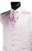Pink Diamond Weave Wedding Waistcoat
