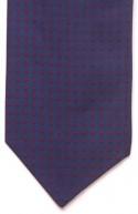 Navy Blue and Red Spot Silk Self Tie Cravat