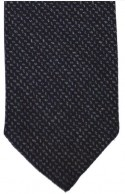 Black & Grey Fine Herringbone Tie