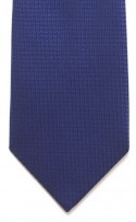 Blue Diamond Pattern Polyester Tie