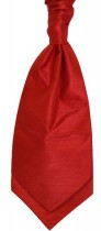Tomato Colour Shantung Cravat